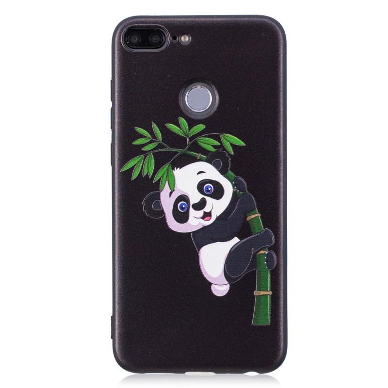 coque huawei honor 9 lite en relief panda sur le bambou. Black Bedroom Furniture Sets. Home Design Ideas