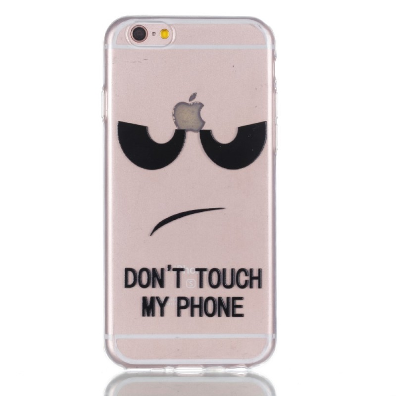 coque iphone 66s plus gaufree don t touch my phone