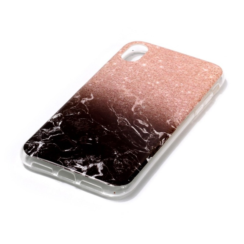 coque iphone xr marbre rouge