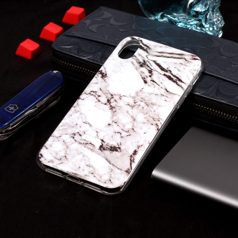 coque iphone xs max marbre noir