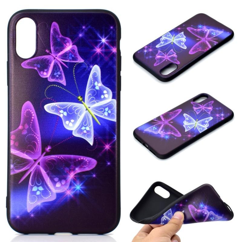 coque iphone xs max papillon