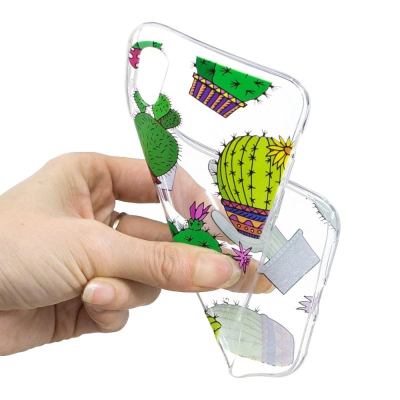 coque iphone xr silicone cactus