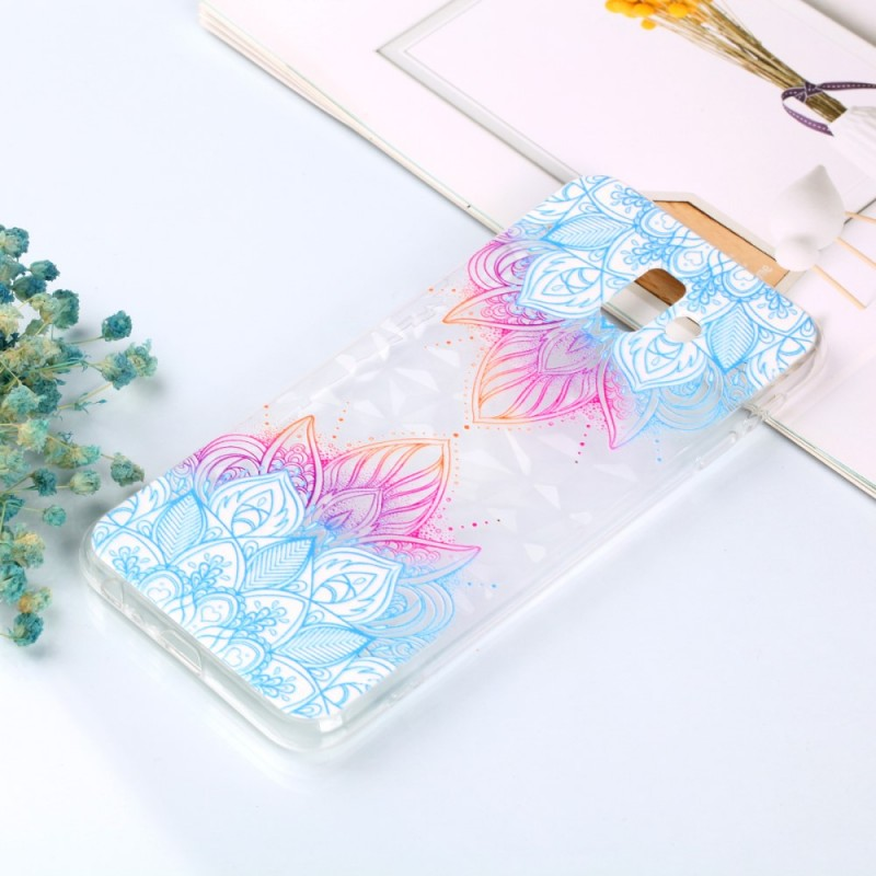 Coque Samsung Galaxy J6 Plus Texture Diamant Fleur de Henné