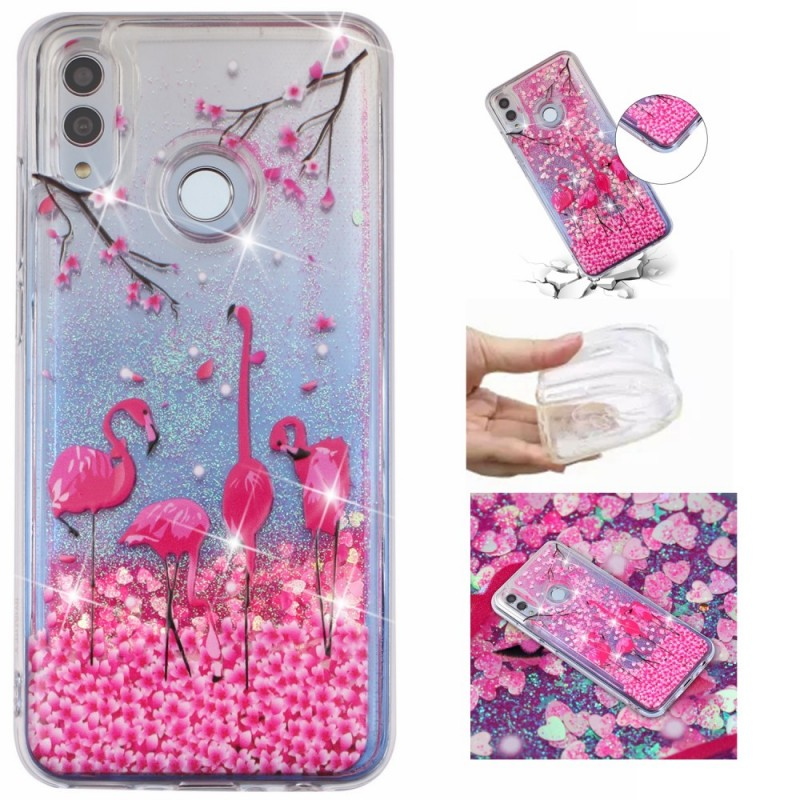 coque huawei p smart flamant rose
