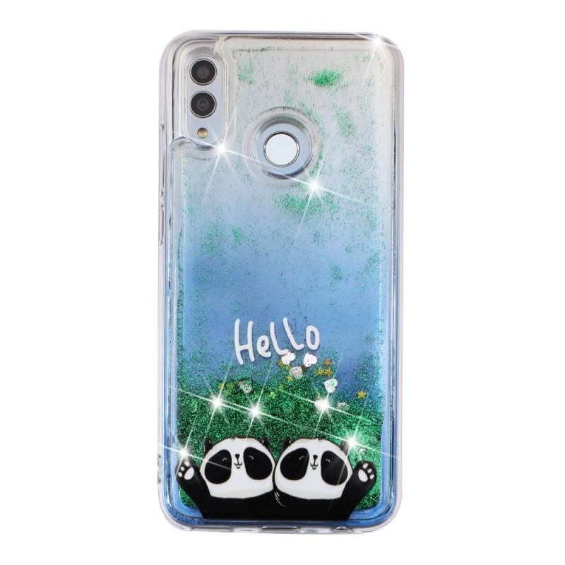 Coque Honor 10 Lite / Huawei P Smart 2019 Hello Pandas Paillettes