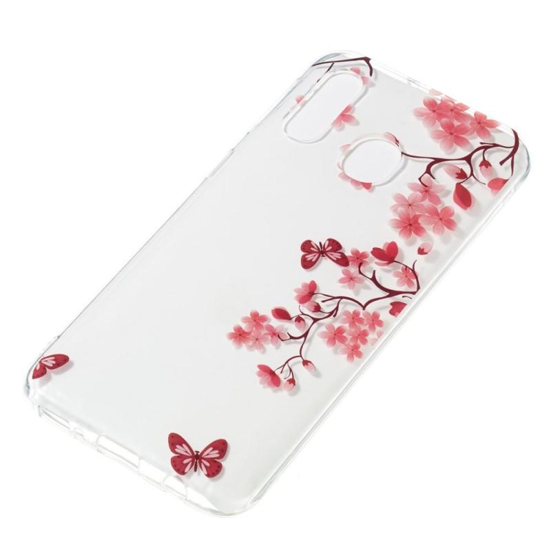 coque samsung a40 fleur de cerisier