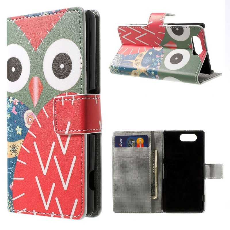 Housse sony xperia z3 compact hibou patchwork for Housse xperia z3