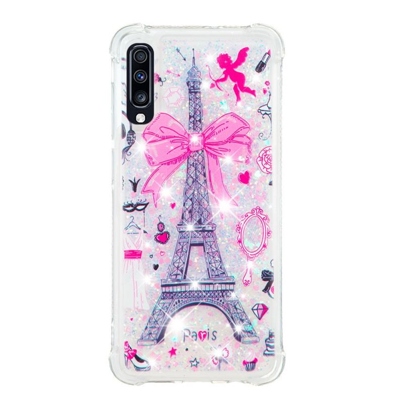 Coque Samsung Galaxy A70 La Tour Eiffel Paillettes