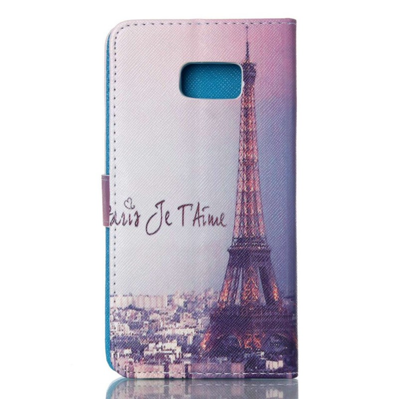 Housse samsung galaxy s6 edge paris je t 39 aime for Housse samsung galaxy s