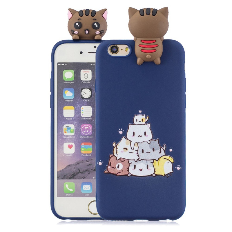 Coque iPhone 6/6S Chats 3D