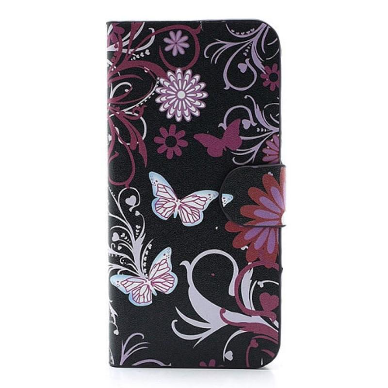Housse iphone se 5 5s papillons et fleurs for Housse iphone 5s