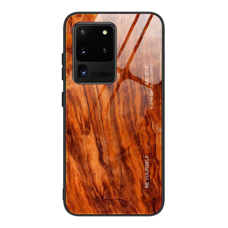 Coque Samsung Galaxy S20 Verre Trempé Design Bois