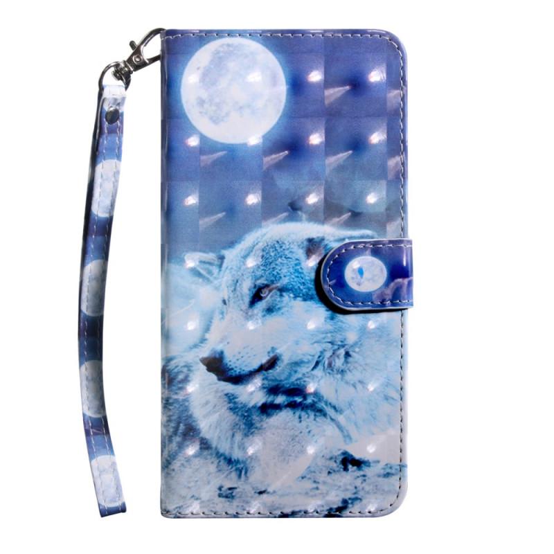Housse Samsung Galaxy A21s Loup au Claire de Lune