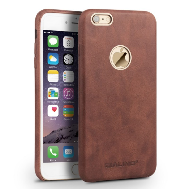 coque iphone 6 plus cuir veritable qialino