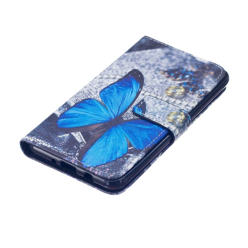Housse samsung galaxy j7 2016 papillon bleu for Housse samsung galaxy