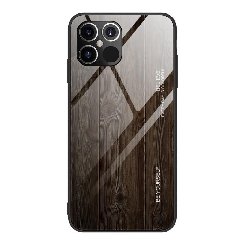 Coque iPhone 12 / 12 Pro Verre Trempé Design Bois