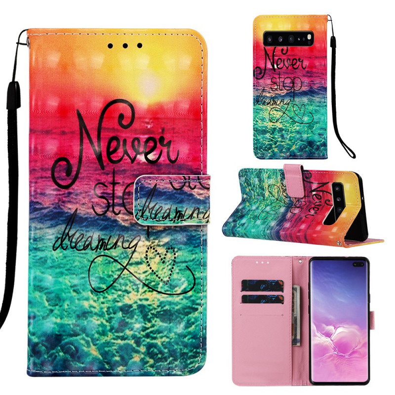 Housse Samsung Galaxy S10 5G Never Stop Dreaming