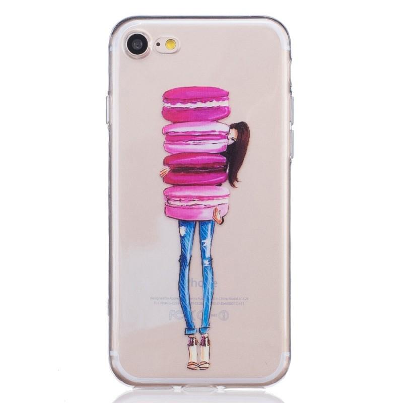 Coque iphone 7 8 la femme macarons - Fabriquer une coque de telephone ...
