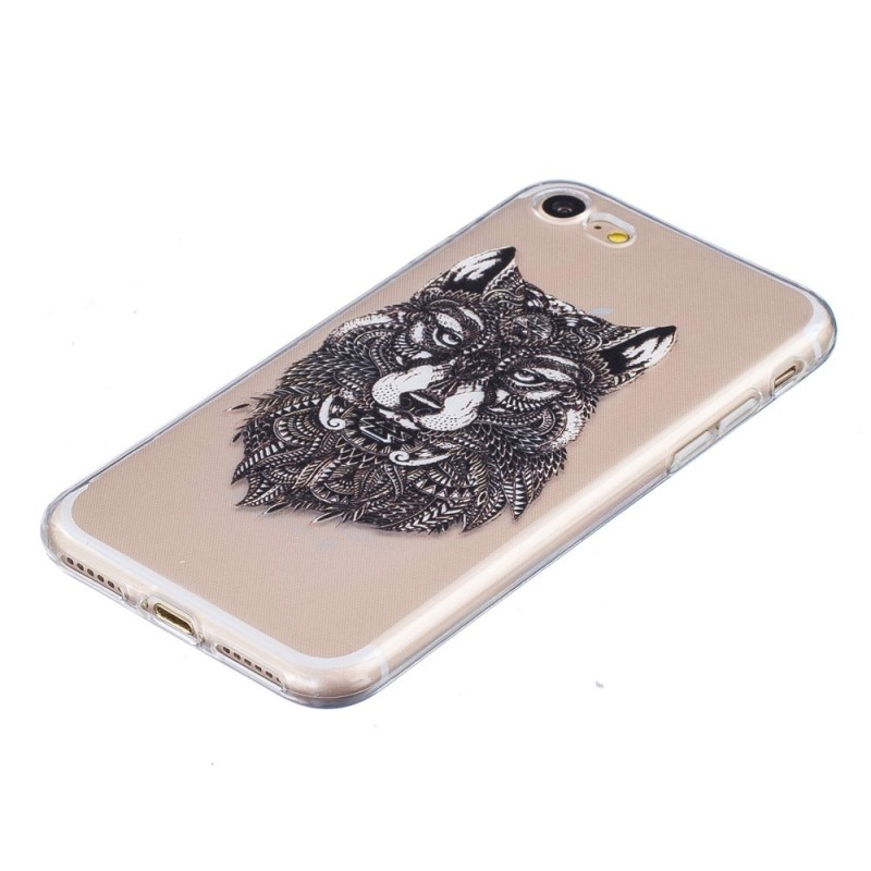 Coque iphone 7 loup design for Coque iphone 7 miroir